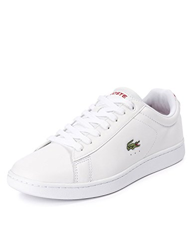Lacoste Men's Carnaby Evo Men's White Leather Sneakers Weiß hg7zBeLpK