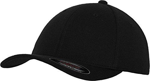 Flexfit Erwachsene Mütze Double Jersey, Black, S/M, 6778 (Ein Baseball-cap Fit)