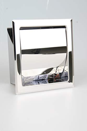 Preisvergleich Produktbild Einbau Toilettenpapierhalter Single,  Matt,  Unterputz aus Edelstahl