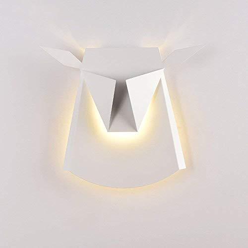 Wandlampe Nordic Moderne Einfache Wandleuchte Kreative Hirschkopf Persönlichkeit Wandleuchten Mode...