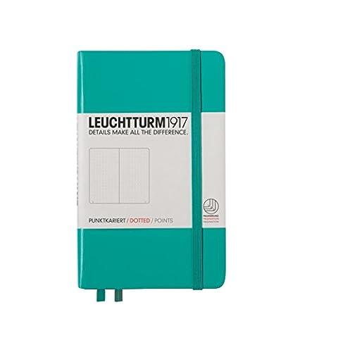 Leuchtturm1917 344788 Carnet Pocket (A6), 185 pages numérotées, émeraude, pointillés
