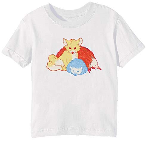 Rápido Amigos Niños Unisexo Niño Niña Camiseta Cuello Redondo Blanco Manga Corta Tamaño S Kids Boys Girls White Small Size S