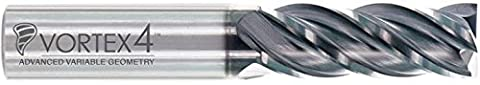 Global Cutting Tools AL3-0818-SQ Aluminum 3 Carbide End Mill - 3 Flute x 1/2'' Tip x 1/2'' Shank x 1 1/8'' Length of Cut x 3'' Overall Length