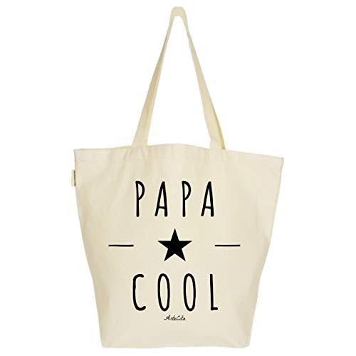 ArteCita ECO Fashion Grand Sac Cabas Fourre-tout Imprimé Toile Bio 37x45x20cm Tote Bag XL - Papa Cool