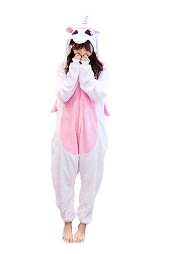 Yimidear® Unisex Cálido Pijamas para Adultos Cosplay Animales de Vestuario Ropa de Dormir Halloween y Navidad(XL, Unicornio)