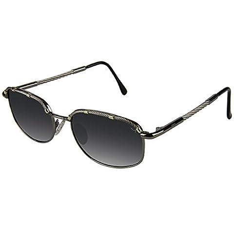 Xezo Airman Mens or Womens Titanium and Cable Steel Polarized UV 400 Pilot Sunglasses. Vintage Style