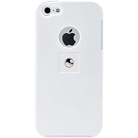 Tetrax - Kit costituito da supporto intelligente e XCase per iPhone 5/5S, colore: Bianco