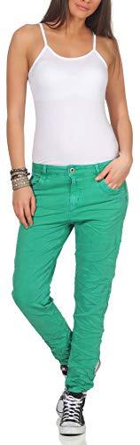 Karostar Damen Jeans Stretch Hose Chino Boyfriend Pants Hüftjeans 62...
