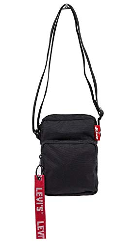 Levi´s Citybag L SERIES CMALL CROSS BODY TWILL TAPE 229929-0008-0059 Schwarz, Size:ONE SIZE (Levis Umhängetasche)