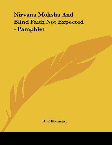 Nirvana Moksha And Blind Faith Not Expected - Pamphlet