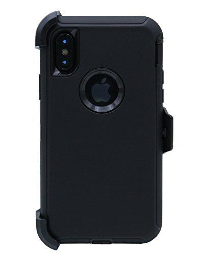 Handyhülle [M01] für iPhone X, schwarz/schwarz Lifeproof Belt Clip