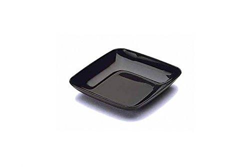 Thali Outlet®–50x Mini 5, Schwarz, Mozaik Tasting Vorspeise Teller, starker Kunststoff, wiederverwendbar,