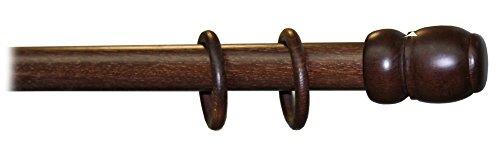 Bastone in legno a strappo mm. 35 noce scuro cm. 240