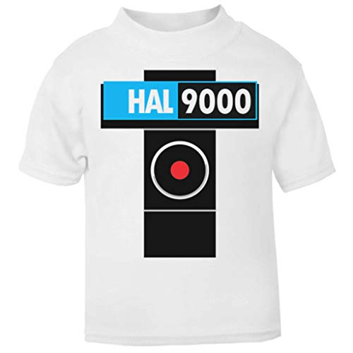 Geek Kostüm Computer - 2001 A Space Odyssey Inspired HAL 9000 Baby and Toddler Short Sleeve T-Shirt