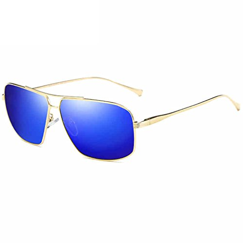 Ppy778 Polarisierte Sonnenbrille für Männer Outdoor Sport Eyewear ultraleichte metallische Metallrahmen HD-Objektiv (Color : A)