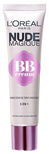 L'Oréal Paris - Nude Magique BB Cream Peau Médium à Mate Perfectrice de Teint 5 en 1