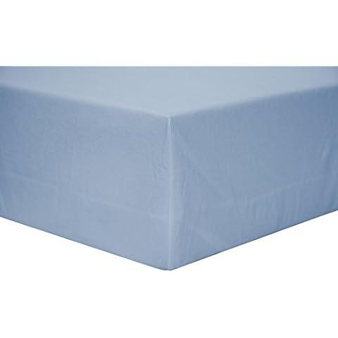 bsensible 101nt0110519032–Bettlaken Abdeckung, Tencel, wasserdicht und atmungsaktiv, 105x 190cm, Himmelblau