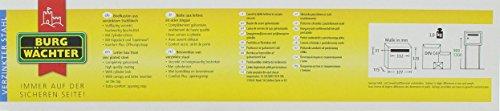 BURG-WÄCHTER, Briefkasten mit Öffnungsstopp, A4 Einwurf-Format, Verzinkter Stahl, Amsterdam 867 BR, Braun - 5