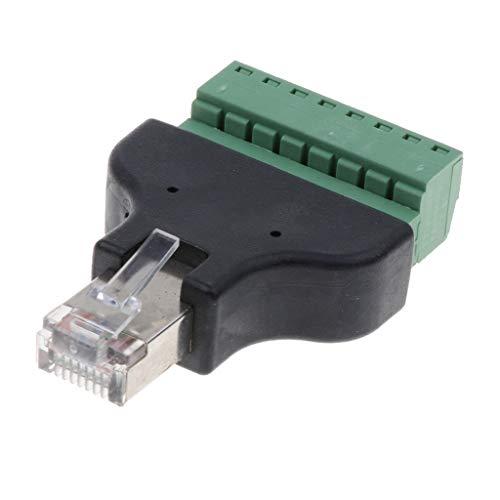 Heavy-duty-cat5e-ethernet-kabel (Almencla 8 Poliger Block Anschlussadapter Mit Ethernet RJ45 Stecker Kompatibel Mit Cat7, Cat6, Cat5, Cat5e Netzwerk, Robustes Coverter Kompaktes, Kleines Desig)