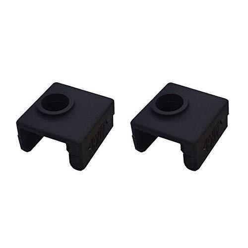 SOOWAY 3D Drucker Heizung Block Silikon Abdeckung MK7 / MK8 / MK9 Hotend Kompatibel mit Creality CR-10,10 S, S4, S5, Ender 3, ANET A8 (Schwarz) -