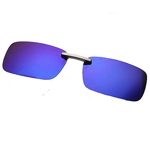 Global Brands Online polarisierte Sonnenbrille, zum Anklipsen, Sonnenbrille, Nachtsicht, für Metallrahmen