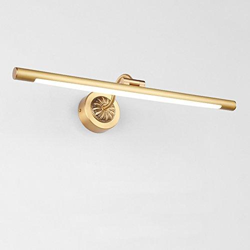 XUERUI Lampe LED, 8W-15W Lumières De Salle De Bains Blanc Chaud, Conducteur EMC, 43-76CM X 7cm X 4.5cm, Energy Savin (Couleur : Brass, taille : 43cm)