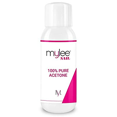 Mylee 100% Pure Acetone 600ml Superior Quality Nail Polish Remover UV/LED GEL Soak Off