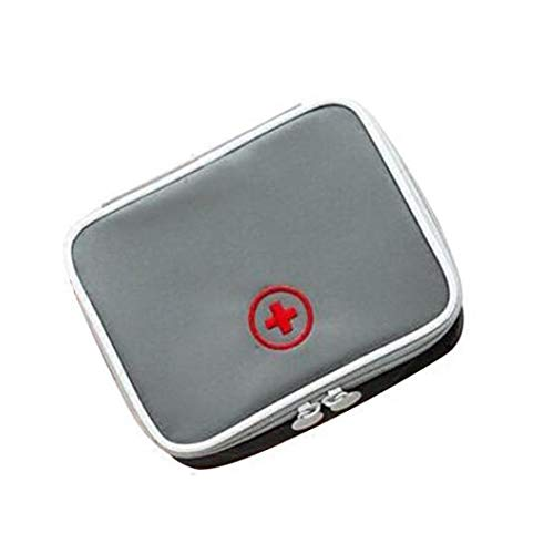 Portátil Mini Kit de primeros auxilios, Medicina vacío bolsa de viaje, Pequeño Médico del organizador del almacenaje de la bolsa, pastillas de medicamentos para el Paquete contenedor exterior gris