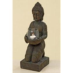 The different design - Figura decorativa con soporte para vela (44 x 14 x 16 cm), diseño de Buda