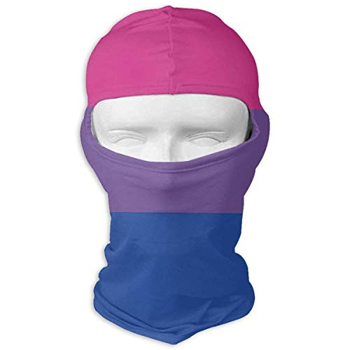 Voxpkrs Transparent Bi Flag Winter Motorcycle Full Face Mask Dust Protection Balaclava Hood for Men and Women