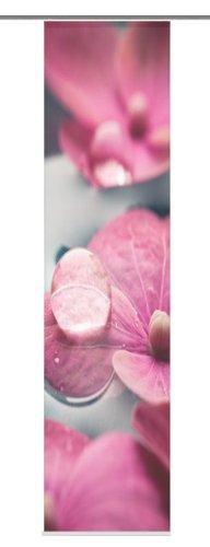 Home Fashion 87673-752 Lily - Panel japonés, 245 x 60 cm, diseño de seda con impresión digital, color rosa