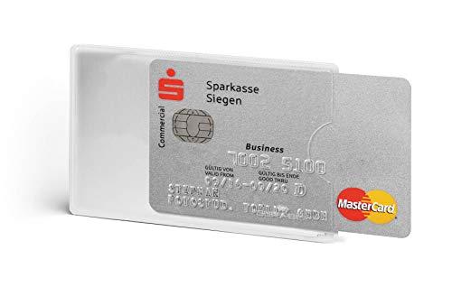 Durable 890319 Kreditkartenhülle (mit Rfid Schutz, Rfid Blocking, Beutel à3 Kartenhüllen) transparent - Kreditkarte Beutel