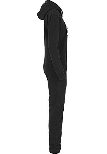 Urban Classics TB1077 Ladies Sweat Jumpsuit Overall Anzug Teddy Damen, Farbe:blk/wht;Größen:M - 6