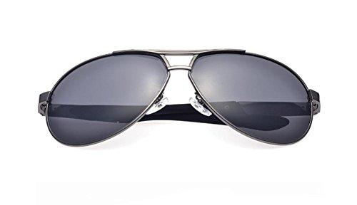 GZD Lunettes de soleil polarisées silver frame gray