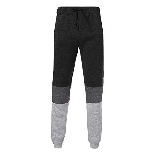 8813c326274b Styledresser Pantaloni Sportivi Uomo,in Vendita Jeans Uomo Larghi sotto,Uomo  Autunno Inverno Joggers Patchwork Cerniera Pantaloni della Tuta Pantaloni  ...