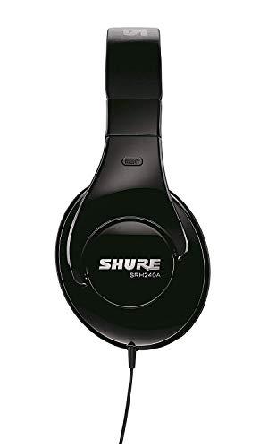Shure SRH240A, geschlossener Kopfhörer / Over-ear, schwarz, geräuschunterdrückend, druckvolle Bässe und detaillierte Höhen - 2