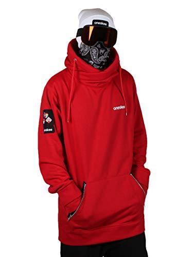 d7bd5232de5781 Oneskee Herren Kapuzenpullover Ski   Snowboard Wasserfest - Rot - Medium  Large