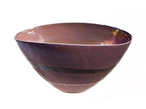 Zeitgenössische Oval Glas (Vase aus Glas von Murano, Hohe Qualität, ELEGANTE Möbel, luxuriös, handgefertigt, Glas mundgeblasen, Oval, Design Modern und zeitgenössisch, Kugel, Uni, 100% Marke Ursprungs garantiert (violett))