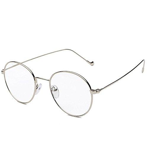 Aoligei Kunst Retro Brillen Rahmen Ultra dünne Leichtmetall Myopie Runde Gläser männlichen Flat-Mirror Frame weiblich