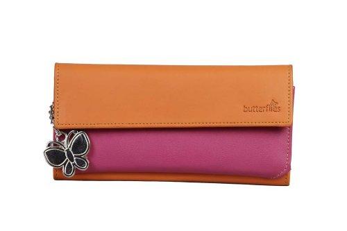 butterflies women's wallet (orange / pink) (bns 2040) Butterflies Women's Wallet (Orange / Pink) (BNS 2040) 31rbaLt3NdL