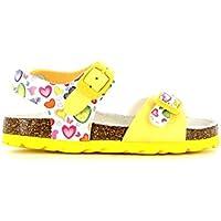 Grunland Aria bambina, pelle liscia, sandali