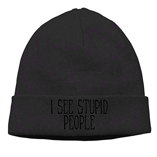 Fashion Funny hat Unisex Beanies Caps I See Stupid People Skull Hats Soft Hedging Cap - 2t John Deere