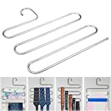 Pants Trousers S Hanging Clothes Hanger Layers Clothing Storage Space Saver Neat