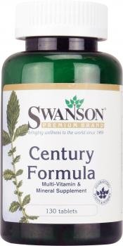 Swanson Century Formula with Iron - Multi Vitamins & Minerals (130 Tablets) by Swanson Health Products