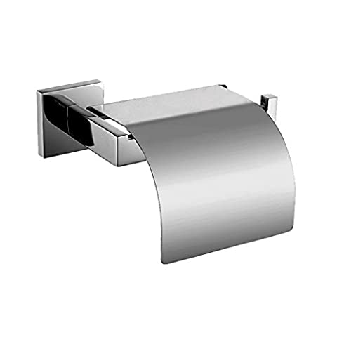 Weare Home SUS304 Stainless Steel Polish Finish Toilet Paper Holder Single Roll with Cover For Bathroom