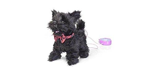 Tobar - 28779 - Peluche animée chien noir scotty à promener, collection Animigos