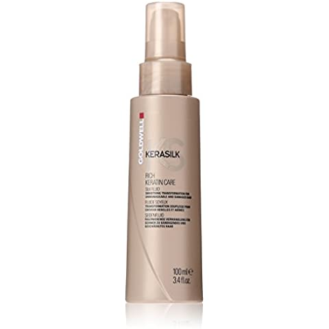 Goldwell Kerasilk Rich Keratin Care Silk Fluid - Smoothing Transformation (For Unmanageable and Damaged Hair) 100ml