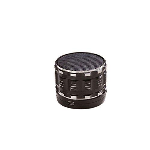 Culater® Acciaio Mini Metallo Mani Intelligenti Wireless Portatili Altoparlanti Bluetooth Altoparlanti (Nero)