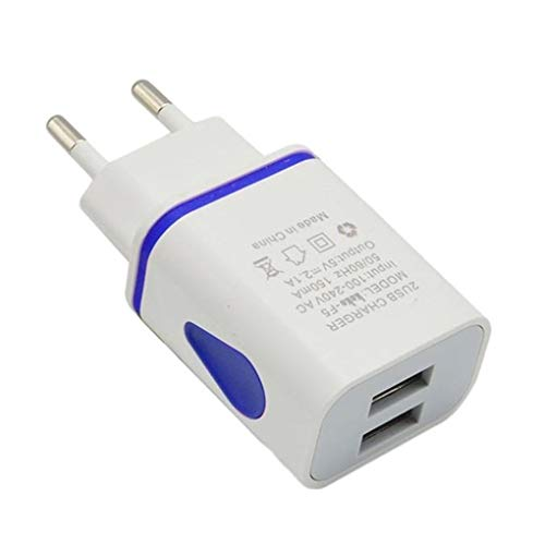 IMHERE W U USB Wall Charger Dual Port 2A Ausgangs Spielraum-Stecker-Adapter kompatibel für Telefon-EU-Stecker Eu Usb Wall Charger