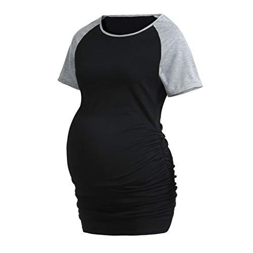 Damen Schwangere Maternity Top Shirts Piebo Witzige süße Schwangere Umstandsmode T-Shirts mit Mutterschafts-niedliche lustige Schwangerschaft Geschenk Kurzarm O-Ausschnitt Oberteil Shirt